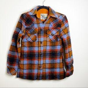 Vintage Pioneer Wear Plaid Button Down Top